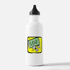100 Dollar Bill Water Bottle