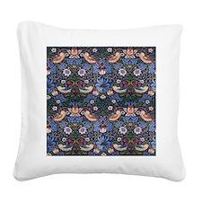 William Morris Strawberry Thi Square Canvas Pillow