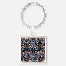 William Morris Strawberry Thief Square Keychain