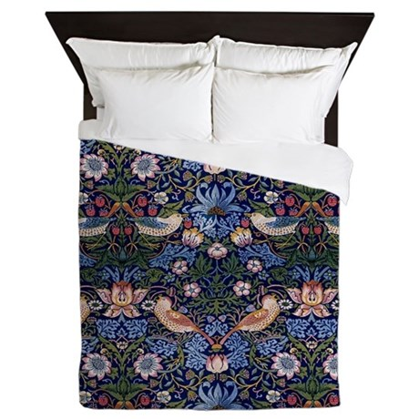 William Morris Strawberry Thief Queen Duvet By Listing