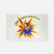 Mighty Mouse Save the Day Rectangle Magnet