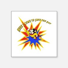 """Mighty Mouse Save the Day Square Sticker 3"""" x 3"""""""