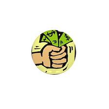 Grabbing Cash Mini Button