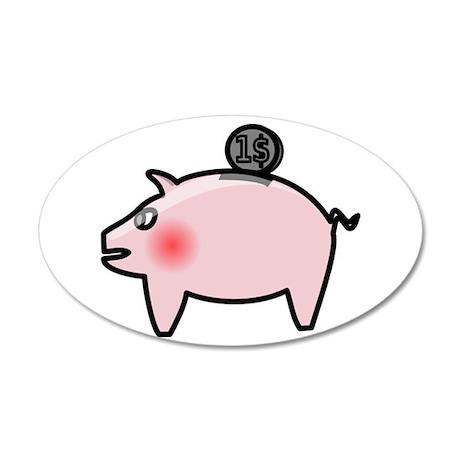 Piggy Bank Wall Decal