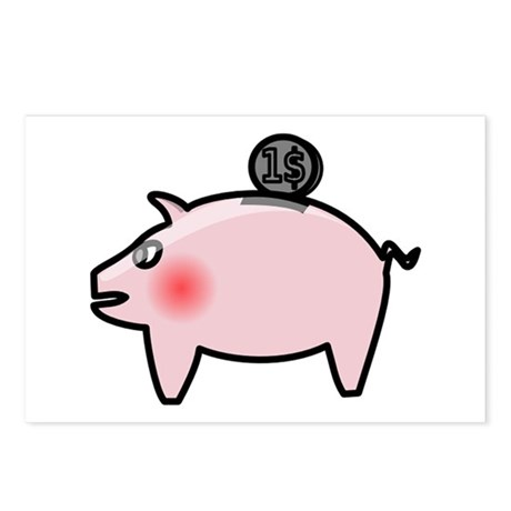 Piggy Bank Postcards (Package of 8)