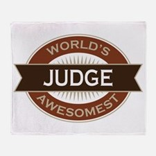 Judge (World's Awesomest) Throw Blanket