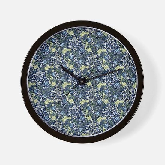 William Morris Blue Daisies Wall Clock