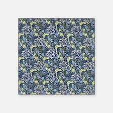 """William Morris Blue Daisies Square Sticker 3"""" x 3"""""""