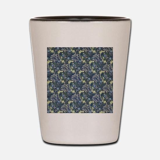 William Morris Blue Daisies Shot Glass