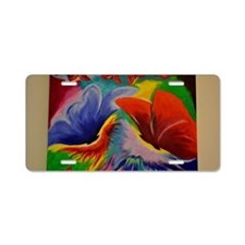 abstract painting Aluminum License Plate