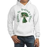 Irish Girl With Flag Hooded Sweatshirt