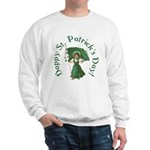Irish Girl With Flag Sweatshirt
