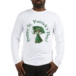 Irish Girl With Flag Long Sleeve T-Shirt