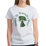 Irish Girl With Flag Women's T-Shirt