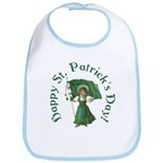 Irish Girl With Flag Bib
