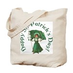 Irish Girl With Flag Tote Bag