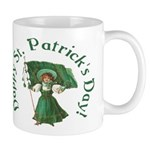 Irish Girl With Flag Mug