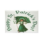 Irish Girl With Flag Magnets (10 pack)