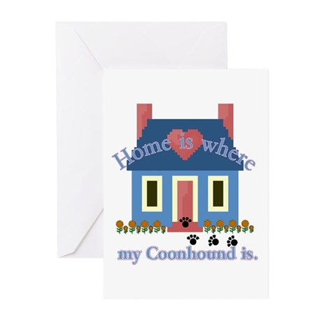Treeing Walker Coonhound Greeting Cards (Package o