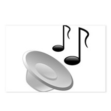 Speaker and Musical Notes Postcards (Package of 8)