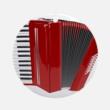 Musical Accordion Ornament (Round)