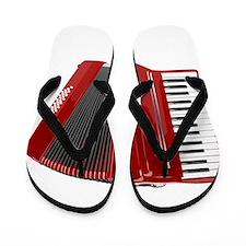 Musical Accordion Flip Flops