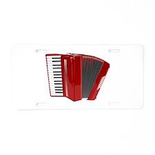 Musical Accordion Aluminum License Plate