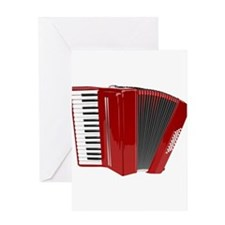 Musical Accordion Greeting Cards