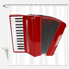 Musical Accordion Shower Curtain