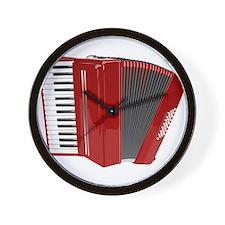 Musical Accordion Wall Clock