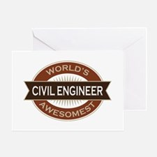 Civil Engineer (Awesome) Greeting Card