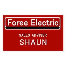 Shaun's Name Tag (sticker)