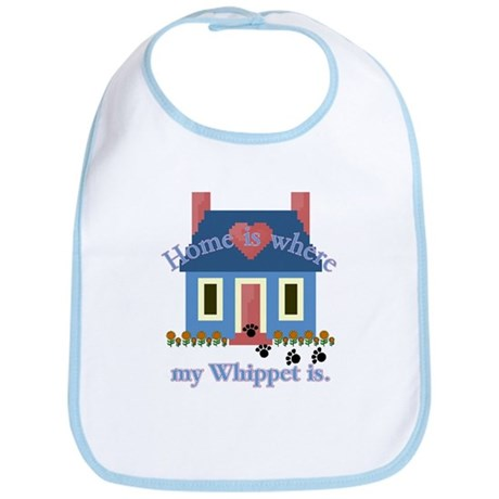 Whippet Lover Gifts Bib