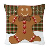 Gingerbread man Woven Pillows