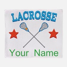 Lacrosse Personalized Star Throw Blanket