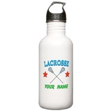 Lacrosse Personalized Star Water Bottle