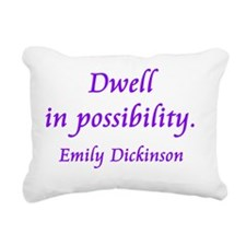 Dwell in Possibility Rectangular Canvas Pillow