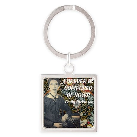 Forever is composed of nows Square Keychain