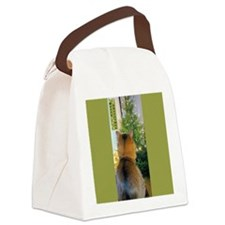 Cat and Christmas Tree Canvas Lunch Bag