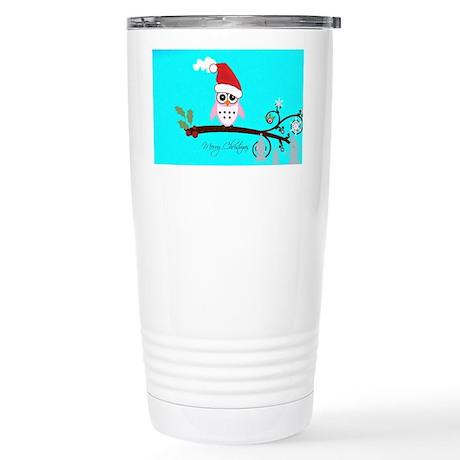 Santa Owl - Merry Christmas Stainless Steel Travel