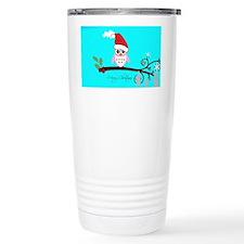 Santa Owl - Merry Christmas Travel Mug
