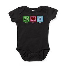 Peace Love Milk Baby Bodysuit