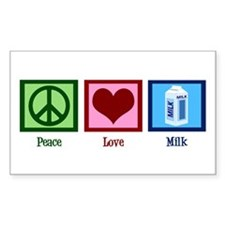 Peace Love Milk Decal