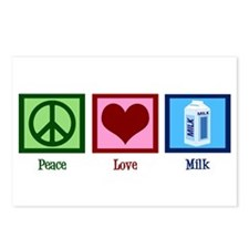 Peace Love Milk Postcards (Package of 8)