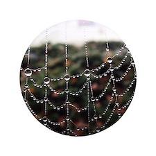 """Dew On A Spiderweb 3.5"""" Button"""