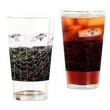 Dew On A Spiderweb Drinking Glass