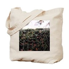 Dew On A Spiderweb Tote Bag