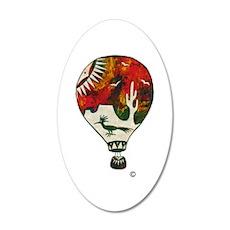 Hot Air Balloon In Silkscreen - RED Wall Decal