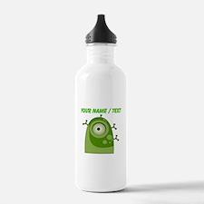 Custom Green Alien Cyborg Water Bottle