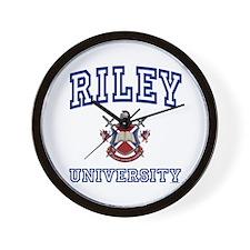 RILEY University Wall Clock